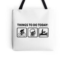 Funny Cycling Things To Do Today Tote Bag
