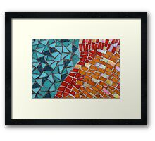 Red or Aqua - JUSTART © Framed Print