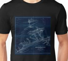 0306 Railroad Maps Topographical map of the Mine Hill and Schuylkill-Haven Rail Road with its branches and extension to Ashland surveyed and drawn by Henry W Poole Civl Topl Inverted Unisex T-Shirt