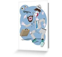 The traveller's disguise destroyed! Greeting Card