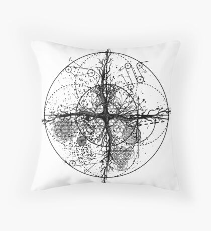 the root of all Throw Pillow