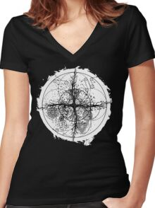 the root of all Women's Fitted V-Neck T-Shirt