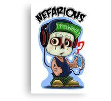 chibi boy Nefarious by jose melendez Canvas Print