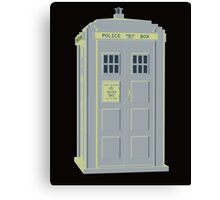 MY MASTERS TARDIS 1 Canvas Print