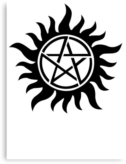 Quot Supernatural Inspired Anti Possession Symbol Tattoo Quot Canvas Prints By Adrienneorpheus Redbubble