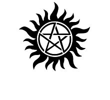 Supernatural inspired Anti-Possession Symbol Tattoo Photographic Print
