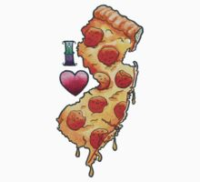 I Love New Jersey Pizza T-Shirt