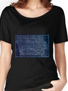 0117 Railroad Maps Railroad map of Inverted Women's Relaxed Fit T-Shirt