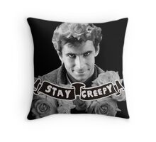 Norman Bates | Stay Creepy Throw Pillow