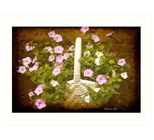 Once There Were Petunias Here Art Print