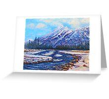Majestic Peak - futurism Greeting Card