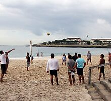 Volleyball on Ipanema Beach by Maggie Hegarty