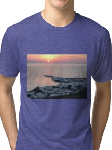 Myconos Island, Greece, Sunset Tri-blend T-Shirt