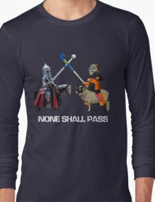 None Shall Pass - White Long Sleeve T-Shirt