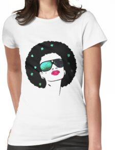Afro girl Womens Fitted T-Shirt