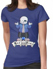 Bad Time Skeleton Womens Fitted T-Shirt