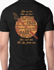 Firefly Ballad of Serenity - Can't Take the Sky Unisex T-Shirt