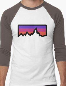 abstract mountain light Men's Baseball ¾ T-Shirt