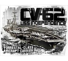 Aircraft carrier Independence Poster