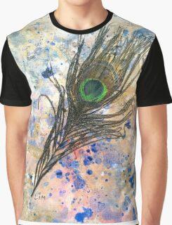 Dancing Peacock 2 'Rain Painting' Graphic T-Shirt