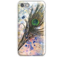 Dancing Peacock 2 'Rain Painting' iPhone Case/Skin