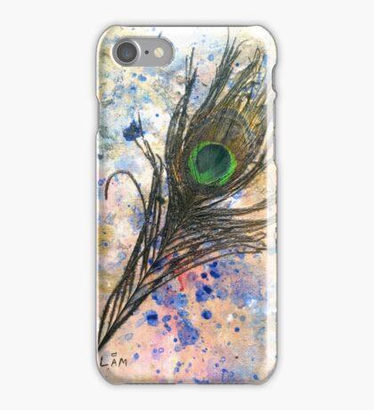 Dancing Peacock 2 'Rain Painting' iPhone Case/Skin