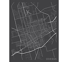 Odessa Map, USA - Gray Photographic Print