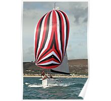 Under Full Sail off Abersoch, North Wales Poster