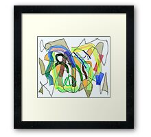 The Answer is in the Puzzle Framed Print