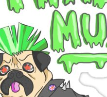Punk Pug Sticker