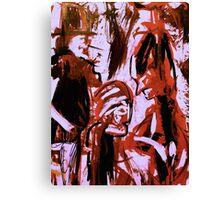 dark spirits......saving face shaman Canvas Print