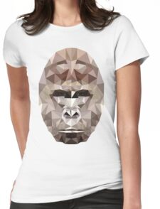 Harambe Low Poly Womens Fitted T-Shirt