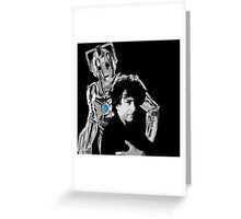 Neil and the Cyberman Greeting Card