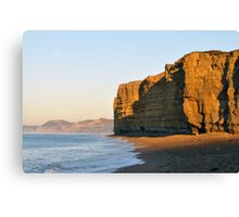 Sunrise on Burton Cliffs - Dorset, UK Canvas Print