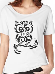 Black Owl Women's Relaxed Fit T-Shirt