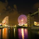 Night Reflections - Yokohama by Paul Campbell  Photography