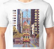 Whimsically Fun California Street Cable Car Unisex T-Shirt