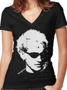 Layne Staley silhouette Women's Fitted V-Neck T-Shirt