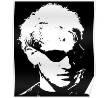 Layne Staley silhouette Poster