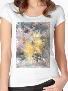 Power From Within 'Rain Painting' Women's Fitted Scoop T-Shirt