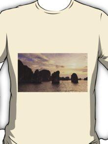 Sunset in Ha Long Bay, Vietnam T-Shirt