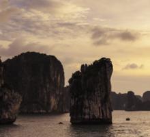 Sunset in Ha Long Bay, Vietnam Sticker