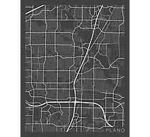 Plano Map, USA - Gray Photographic Print