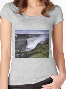 Waterfall: Dawn at Dettifoss, Iceland Women's Fitted Scoop T-Shirt