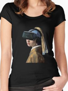 Girl With The Oculus Rift Women's Fitted Scoop T-Shirt