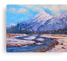 Majestic Peak - impressionism Canvas Print