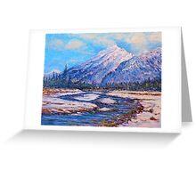 Majestic Peak - impressionism Greeting Card