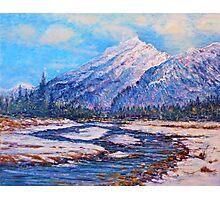 Majestic Peak - impressionism Photographic Print
