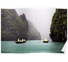 Rain & Rowboats: Life in Halong Bay, Vietnam  Poster
