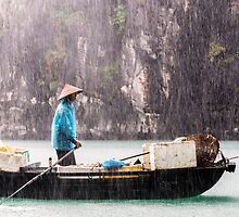 Rain & Rowboat: Life in Halong Bay, Vietnam  by thewaxmuseum